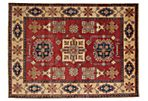 "5'6""x7'8"" Kazak Hand-Knotted Rug, Red"