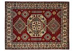 "5'x6'9"" Kazak Hand-Knotted Rug, Red"