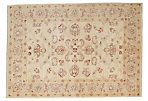 """4'2""""x5'10"""" Oushak Knotted Rug, Beige"""
