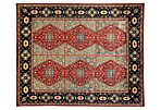 "7'10""x9'10"" Ziegler Knotted Rug, Red"