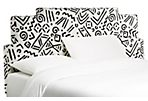Rex Headboard, Black/White