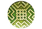 Green Garden Plans Decoupage Plate