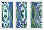 De Borchgrave, Ikat Textile Triptych