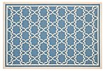 Joan Outdoor Rug, Blue/Beige