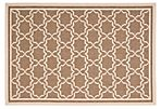 Joan Outdoor Rug, Brown/Bone