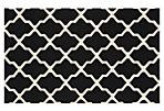 Mulberry Rug, Black/Ivory