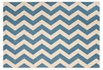 Celina Outdoor Rug, Blue/Tan