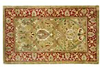 Cy Rug, Light Green/Rust