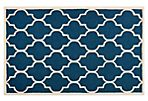 Sawyer Rug, Navy/Ivory