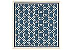 Joan Outdoor Rug, Navy/Beige
