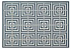 Rufus Outdoor Rug, Navy/Beige
