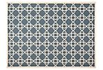 Flora Outdoor Rug, Navy