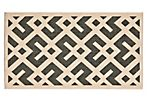 Salina Outdoor Rug, Black/Beige
