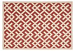 Britt Outdoor Rug, Red/Bone