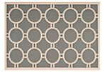 "2'x3'7"" Marsha Outdoor Rug, Anthracite"