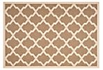 Mia Outdoor Rug, Brown/Bone