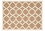 Cece Outdoor Rug, Brown/Bone