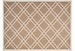 Lola Outdoor Rug, Brown/Bone