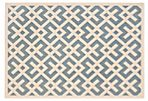 Britt Outdoor Rug, Blue/Bone