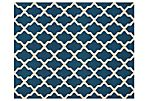 Mulberry Rug, Navy/Ivory