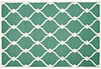 Amarcord Rug, Teal/Ivory