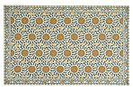 Tunisia Rug, Ivory/Blue/Gold