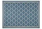 Kate Outdoor Rug, Blue/Beige