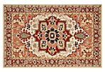 Halsey Rug, Red/Ivory