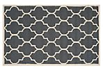 Sawyer Rug, Dark Gray/Ivory