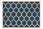 Sybella Outdoor Rug, Navy