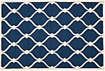 Amarcord Rug, Navy/Ivory