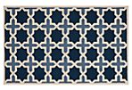 Dale Rug, Navy/Ivory