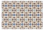 Curtis Outdoor Rug, Cream/Aqua