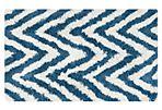 4'x6' Jane Shag Rug, Ivory/Blue