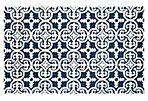 Afrodita Rug, Dark Blue/Ivory