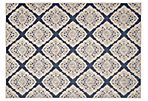 Brea Outdoor Rug, Navy/Cream