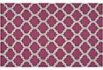 Laurel Flat-Weave Rug, Wine