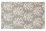 Reef Flat-Weave Rug, Light Gray