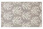 Reef Flat-Weave Rug, Light Gray