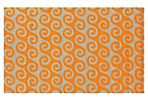 Waves Outdoor Rug, Pumpkin