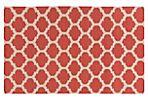 Laurel Flat-Weave Rug, Poppy