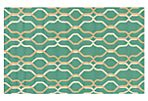 Juneau Outdoor Rug, Gold/Teal