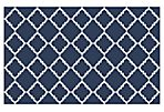 Athena Flat-Weave Rug, Midnight