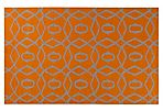 Cirus Flat-Weave Rug, Orange