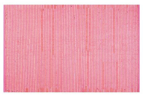 Boxy Rug, Green/Pink