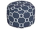 Knot Outdoor Pouf, Navy
