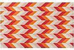 Bali Flat-Weave Rug, Orange/Violet