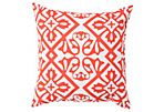Hydrangea Outdoor Pillow, Orange
