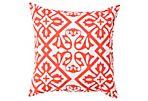 Hydrangea Outdoor Pillow, Orange