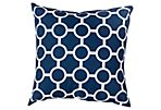Bubbles Outdoor Pillow, Navy